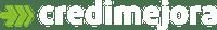Logo Credimejora (blanco)
